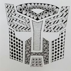 Items similar to Optimus Prime Transformer Zentangle Art Print on Etsy Transformers Optimus Prime, Zentangle, Card Stock, My Etsy Shop, Print Ideas, Ink, The Originals, Abstract, Drawings