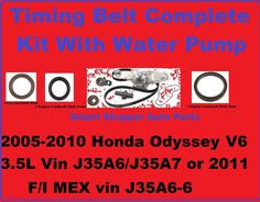 2005-2012  Honda Odyssey Timing Belt Kit With Water Pump, Cranshaft Seal Front  #AftermarketProducts