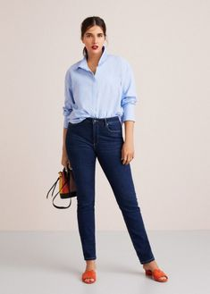 Women's Plus Size Slim-Fit Valentin Jeans Casual Chic Outfits, Casual Chic Style, Casual T Shirts, Boyfriend Jeans, Mom Jeans, Jeans And Hoodie, Gym Clothes Women, Womens Workout Outfits, Womens Fashion Online