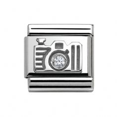 Nomination Classic Camera with CZ Charm Link