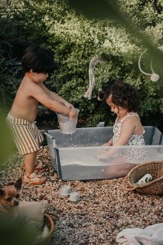 "Bath time is fun time 🐬 Especially when you can enjoy it together outside in our lightweight, award-winning #StokkeFlexiBath  ""💦 An outdoor bath in our new folding Stokke bathtub ® Flexi Bath ®, they're glad they can bathe anywhere 🌲 and I have them close, controlled at all times 😚 while fixing the garden 🌼 is super comfortable, doesn't weigh, can be folded and stored in any corner."" 📸: @mumaoi  #BabyBath #FoldableBath #BabyRegistry #BabyGoods #BabyGear #BabyGearMustHaves #BathTub… Baby Tub, Outdoor Baths, Drain Plugs, How To Get Warm, Kids Branding, Fun Time, Summer Baby, Baby Registry, Baby Essentials"