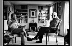 Robert Doisneau and Henri Cartier-Bresson, Martine Franck 1985.