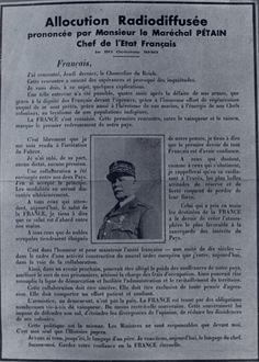 Allocution radiodiffusée de Pétain