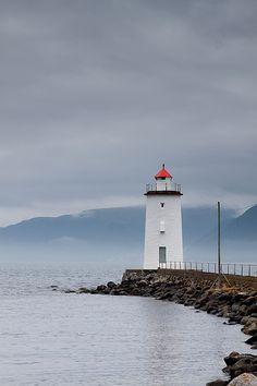 The beautiful lighthouse of Giske, a great island near Alesund.