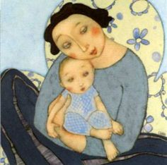 Cécile Veilhan (French, born 1965). What a darling mama/baby illustration/jr.