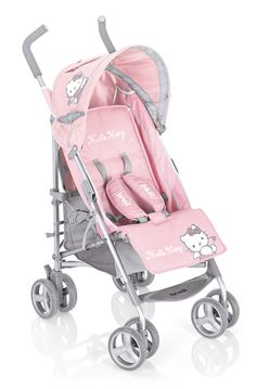 Brevi Hello Kitty B-Super Pink Stroller with Raincover Hello Kitty Zimmer, Chat Hello Kitty, Hello Kitty Rooms, Baby Girl Strollers, Baby Jogger Stroller, Baby Doll Car Seat, Baby Car Seats, Toddler Dolls, Baby Dolls