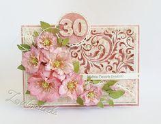 Papierowe chwile zielonejliszki, Filigree card with flowers