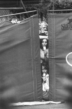 1976: Spectators at the Wimbledon Tennis Championships.