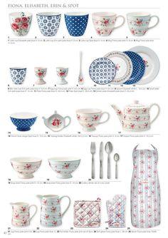 GreenGate Autumn/winter catalogue 2019—Side 42 Rainbow Kitchen, Fall Winter, Autumn, Shabby Vintage, Ceramics, Tableware, Green, Parties, Dreams
