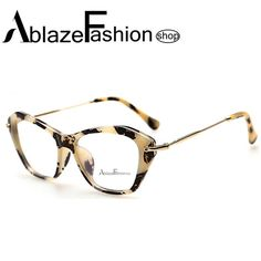 New 2016 Fashion Frame Glasses Women Cat Eye Glasses for Woman Classic Optical Vintage Glasses Frame Eyeglasses Oculos Gafas