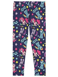 Add a magical twist to their mini wardrobe with these My Little Pony leggings. Stamped with their favourite friends, this cotton-rich creation is sure to be ...