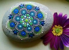 Hand painted stone by Miranda Pitrone