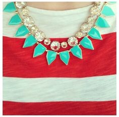 Turquoise Geometric Necklace from Picsity.com