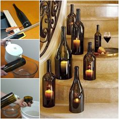 Home Lighting Ideas Expressed With Wine Bottle Crafts