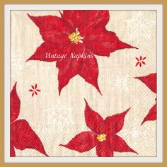 SALE *** TWO Paper napkins for DECOUPAGE – Christmas Flower C089 by…