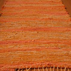tkaný kobereček - hadrák - oranžový