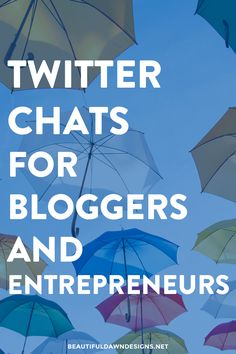 A Twitter chat is when a group of people get together on Twitter and chat about a specified topic using a specified hashtag. Here is a list of Twitter chats for bloggers and entrepreneurs.