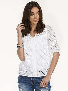 Image for Diamond Broiderie Top from Just Jeans
