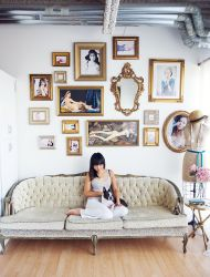 The first french inspired loft that I ever fell in love with was featured in Domino magazine and was this mix of girly fabulousness + the architecturally gorgeous ceilings, molding and details of a classic french living space. It even had a tufted pink chaise that I literally dreamed about. Well now, I get to […]