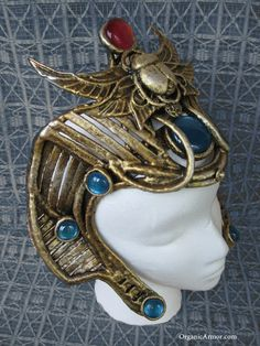 Egyptian Revival Sphinx headdress made by organic armor  See more at: http://organicarmor.com/2013/04/sphinx-headdress-festival-of-legends/#sthash.STPOtK9d.dpuf