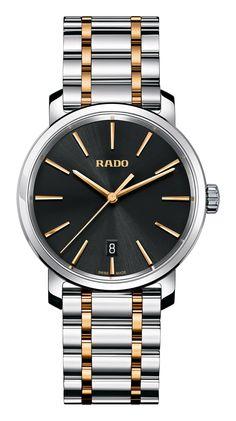 RADO Diamaster, rose gold PVD & st.steel watch. Made in Switzerland. R14078163. Authorized Rado Dealer. Free CDN shipping