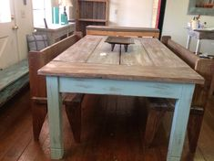 large farmhouse table. Interior Design Ideas. Home Design Ideas