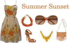 Summer Sunset, created by teliannmussial on Polyvore