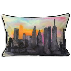 New York sunset cushion ($31) ❤ liked on Polyvore featuring home, home decor, throw pillows, pillows, cojines, furniture and new york home decor