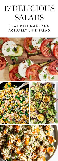 17 Amazing Salad Recipes for People Who Really Hate Salad Before you denounce salads forever, we have 17 flavor -packed versions we promise you'll be into. Get the recipes here. Vegetarian Recipes, Cooking Recipes, Healthy Recipes, Vegetable Recipes, Healthy Salads, Healthy Eating, Healthy Lunches, Veggie Dishes, Soup And Salad