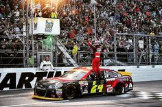 VICTORY! 9th win at @Martinsville_Speedway. 93rd @NASCAR Cup win. [Padgram @jeffgordonweb]