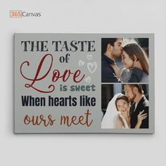 The Taste of Love Is Sweet Custom Photo Canvas Print is inarguably a sentimental and emotional gift that you can get for your beloved. Perfect for your anniversary or Valentine's Day! #canvasprint #personalized #love #anniversarygift #valentinesday