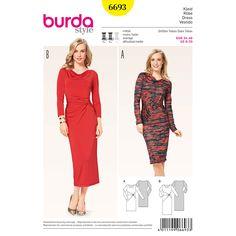 Misses Dress Burda Sewing Pattern No. 6693. Size 8-20.