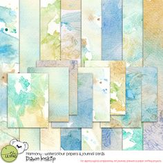 Harmony Watercolour Papers & Journal Cards