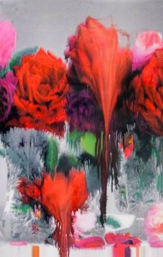 Nick Knight took large scale floral photography and exposed the prints to heat and water during the printing process which resulted in these painting/photograph hybrids Claude Monet, Fotografia Floral, Nick Knight Photography, Night Flowers, Art Flowers, Motif Floral, Floral Photography, Beauty Photography, Comme Des Garcons