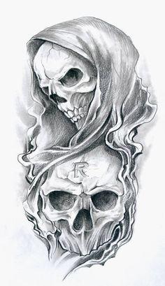 evil joker skull n 8 ball tattoo design tattoo ideas - tattoo skull sketch Evil Skull Tattoo, Skull Sleeve Tattoos, Skull Tattoo Design, Tattoo Design Drawings, Skull Design, Body Art Tattoos, Tattoo Designs, Clown Tattoo, Tattoo Ideas
