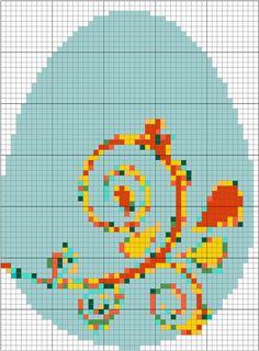 Two Elegant Needlepoint Easter Eggs to Stitch for Day 79: Blue Elegant Easter Egg Needlepoint Pattern