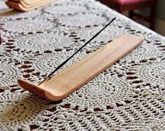 Incense Burner - Hand Made Wood Incense Holder for Burning Incense Sticks