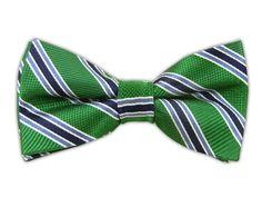 - Bella Stripe - Emerald (Bow Ties)