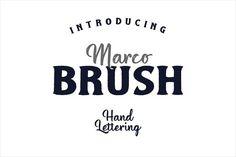 Marco Brush Dual Fonts by inksunmildertype™ on @creativemarket