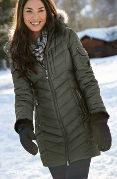 Women's Sun Valley Down Parka   650 fill Premium Down for exceptional warmth without weight. Two-way front zipper adjusts easily when you're active or sitting.