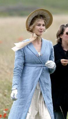 Pelisse and bonnet, Rosamund Pike as Jane Bennet, Pride and Prejudice 2005