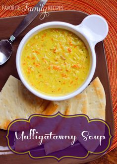 Mulligatawny Soup from favfamilyrecipes.com - A delicious Indian soup that is sweet and savory and addicting!