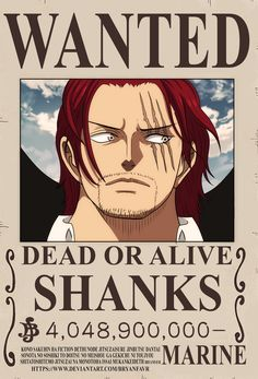 'Shanks bounty Poster' Poster by One-piece-World One Piece Manga, Ace One Piece, One Piece Figure, Poster One Piece, One Piece Drawing, One Piece Chapter, Zoro One Piece, One Piece World, Poster Poster