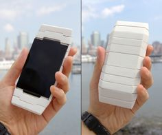 """Curious Mobile Phone by Youngkwang Cho - A """"curious"""" take on the mobile phone. When the phone rings, it changes shape to let you know of the incoming call. #mobilephone #YankoDesign"""