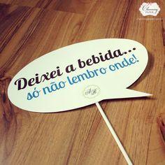 Plaquinhas divertidas www.charmingpaper.com.br