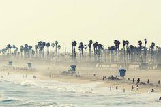 Huntington Beach California 8x12 Photo - Summer Day at the Beach. $28.00, via Etsy.