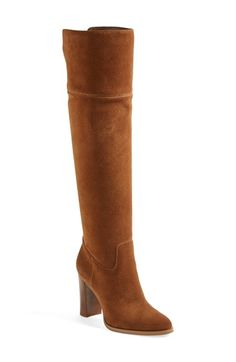 Free shipping and returns on MICHAEL Michael Kors 'Regina' Over the Knee Boot (Women) at Nordstrom.com. A bold stacked heel accented with goldtone hardware elevates an effortlessly sophisticated over-the-knee boot cast in smooth suede.