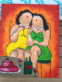 Dikke Dames naar Theo Broeren acryl 20x30 Plus Size Art, Fat Art, Chubby Ladies, People Illustration, Cartoon Images, Girl Humor, Painting & Drawing, Funny Pictures, Quilts
