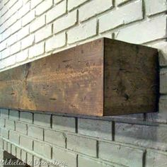 """Rough Hewn Wood Fireplace Mantel.  TO DO 1. Chisel edges more to make it more realistic 2. Make a stopped groove ~5"""" from back to keep large lean-to items from slipping off 3. Insert super magnets along the front to keep stocking holders from falling off"""