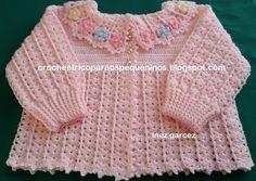 Receita de Crochê Infantil: Casaquinho em crochê para bebe